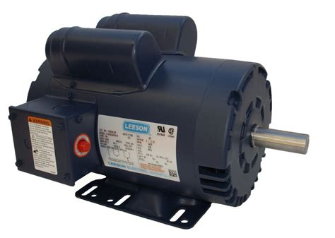 5 hp 3450 rpm air compressor electric motor 230v leeson 120554 free shipping ebay