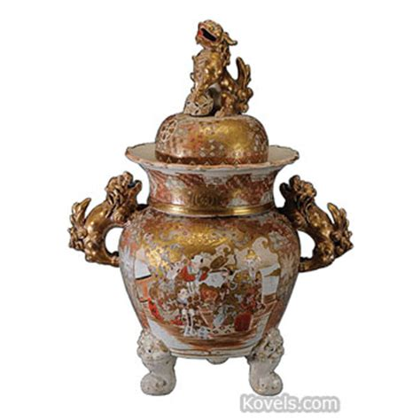 Satsuma Vase Value Antique Satsuma Pottery Amp Porcelain Price Guide