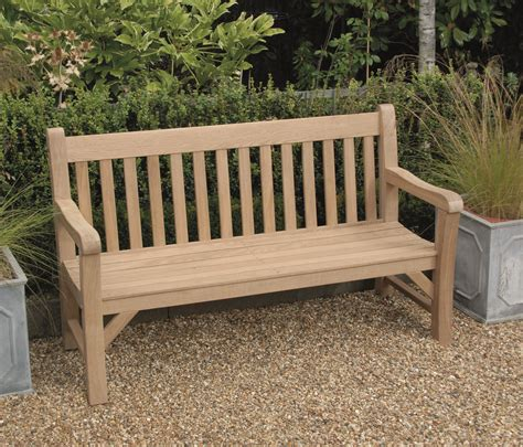 hardwood benches hardwood oak garden bench 1500mm 5 somerlap forest