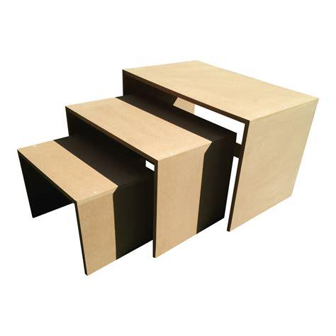 Display Tables by Medium Nesting Display Tables Bespoke Mdf