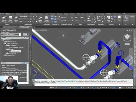 tutorial autocad plant 3d 2016 autocad plant 3d 2016 tutorial 3d pipe routing with xref