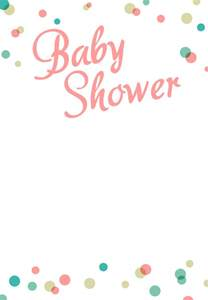 baby shower templates dots borders free printable baby shower