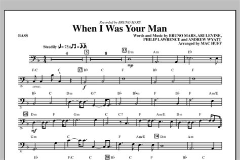 printable lyrics when i was your man when i was your man bass sheet music direct