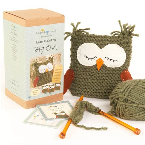 learn to knit kit big owl learn to knit kit by