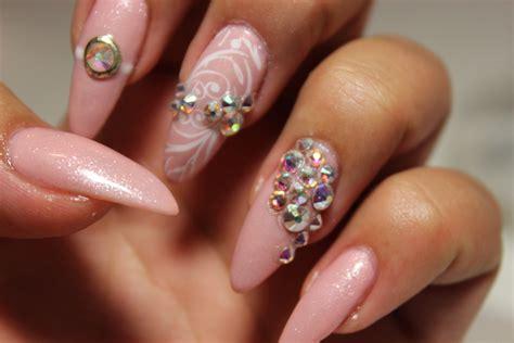swarovski for nails princess pink swarovski nails