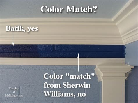 how to color match paint sherwin williams custom color match the joy of moldings com
