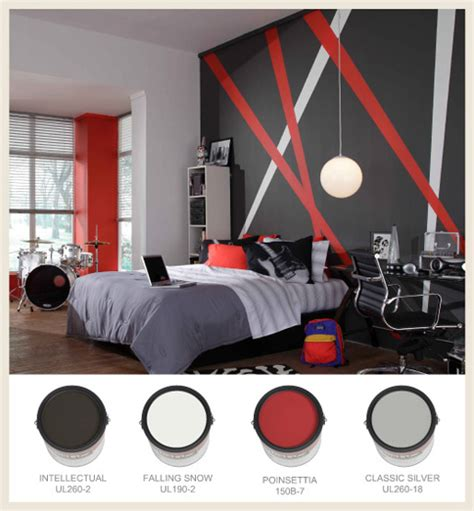 gray black and red bedroom color scheme colorfully behr color on the block