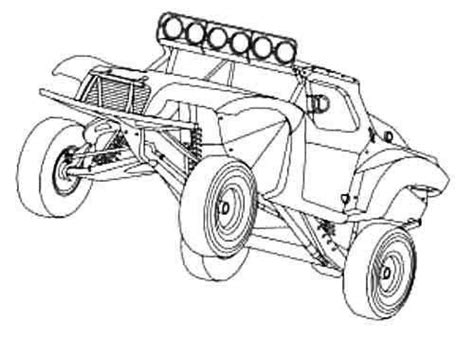 preschool dune buggy race car free coloring pages