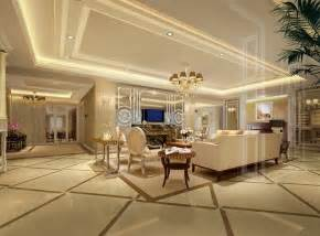 luxury villas interior design 3d rendering