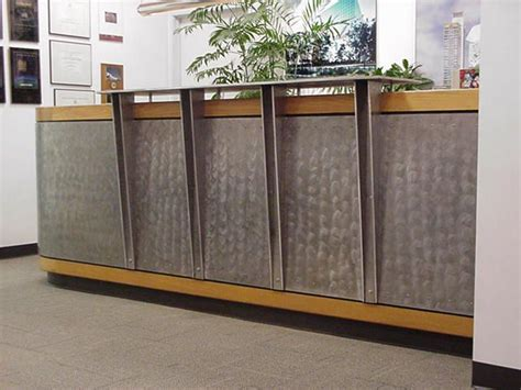 Metal Reception Desk Reception Desk With Metal Front Search Office Pinterest Receptions Metals And