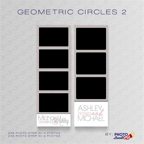 Geometric Circles 2 Photoshop Psd Files Photo Booth Talk Photo Booth Templates Photoshop