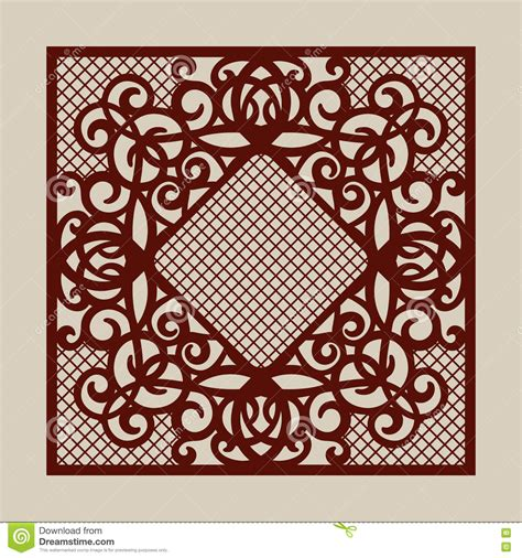 The Template Pattern For Laser Cutting Decorative Panel Stock Vector Image 73941780 Free Laser Engraving Templates