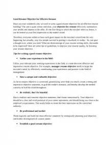 Great Objective Lines For Resumes by Objective Lines For Resume Sles Of Resumes