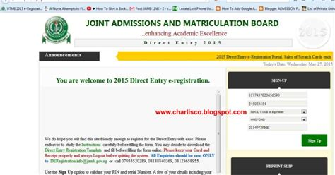 admission forms 2015 unizik diploma pre science post jamb utme online nysc 2016 2015 jamb direct entry