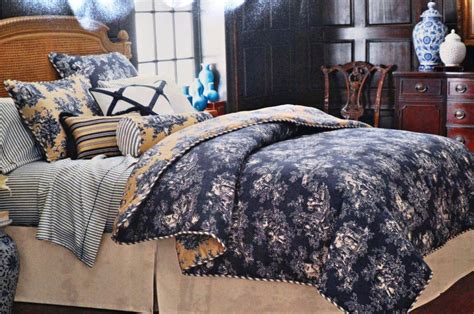 navy blue toile bedding blue toile bedding for an