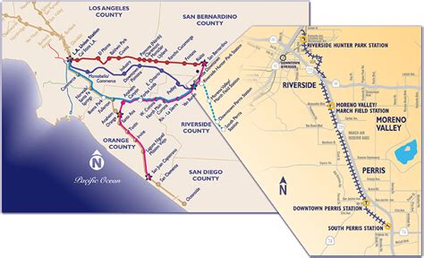 ucr cus map inland empire transit talking points a day for the metrolink perris valley line