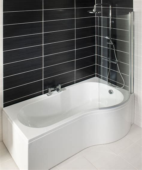 p shaped shower baths p shape shower bath right hand1700 includes glass shower screen bath panel