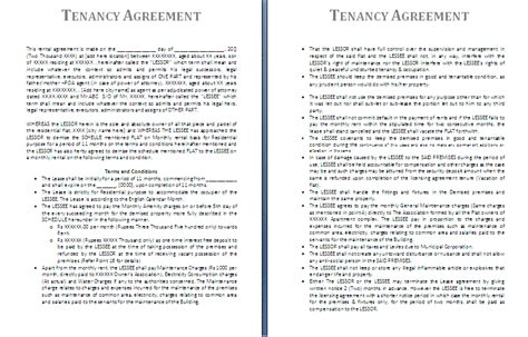 free tenancy agreement template tenancy agreement template formsword word templates
