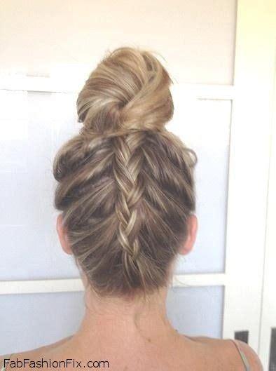 tutorial upside hairbun newbie upside down french braid bun hairstyle tutorial hair