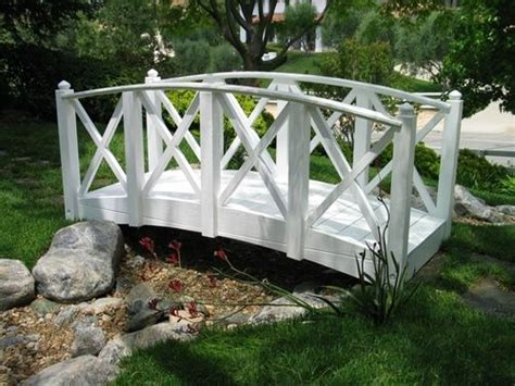 small garden bridge a small bridge for the garden outdoors decoration
