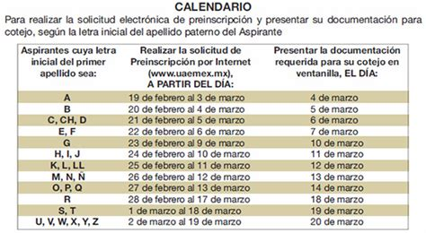 Calendario Escolar Uaemex 2015 Sistema Nuevo Ingreso A La Uaem