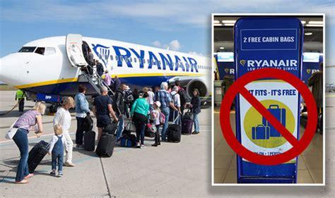 cabin baggage ryanair ryanair luggage airline scraps two bag allowance in