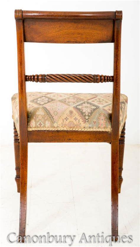Regency Mahogany Dining Chairs Set 6 Regency Mahogany Dining Chairs