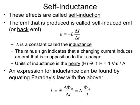 self inductance of an ideal inductor inductance