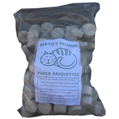Paper Briquettes - paper briquettes in a bag x 10 100kg