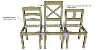 How To Build A Dining Chair Free Plans To Build A Dining Chair Bench