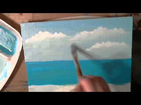 youtube tutorial paint how to paint a seascape with acrylics youtube