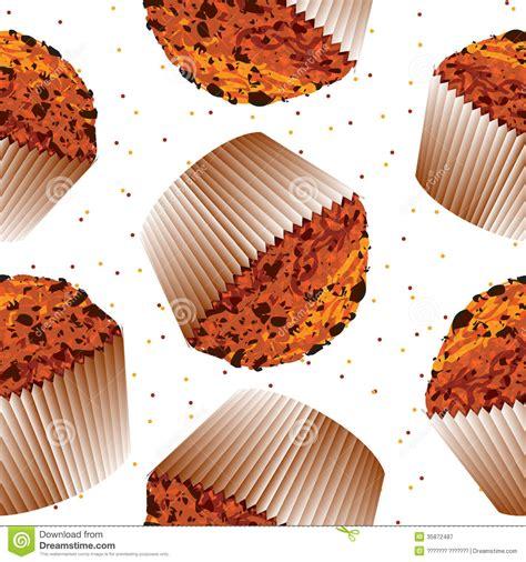 Computer Kitchen Design seamless pattern cupcake muffin cupcake backgroun stock