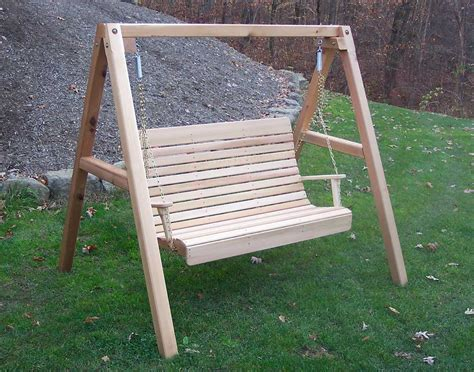 patio swing with stand red cedar royal highback porch swing w stand