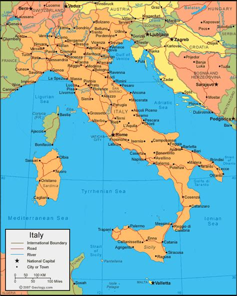 Italy Map italy map and satellite image