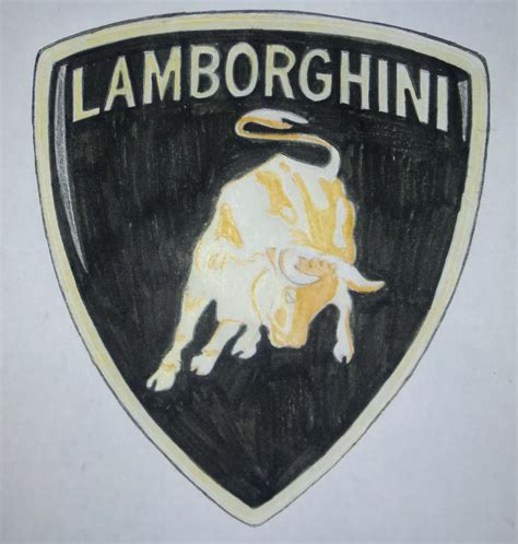 lamborghini symbol drawing lamborghini logo drawing