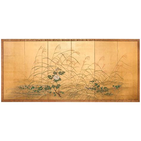 Rivers Edge Furniture by Japanese Screen Grasses And Peonies By Rivers Edge