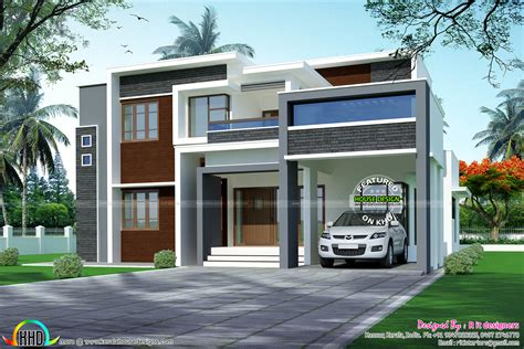 box type home design news 3088 sq ft 4 bedroom box type home kerala home design