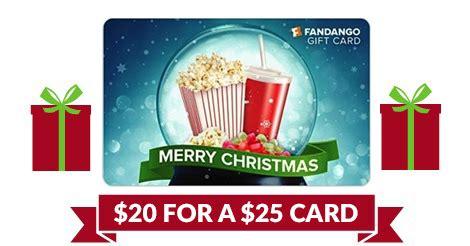 Fandango Gift Card Discount - 25 fandango gift card for 20