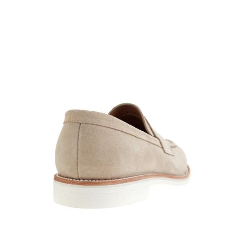 white suede loafers j crew kenton suede loafers with white soles in