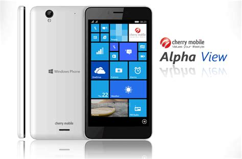 mobile view cherry mobile alpha view 6 inch windows 8 1 smartphone