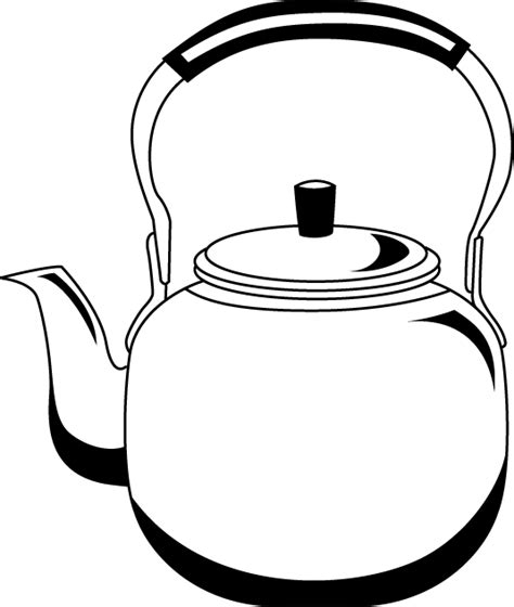 water pot coloring page kettle clipart