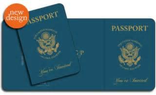 italian passport template passport invitations