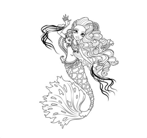 monster coloring pages pdf monster high coloring page 20 free psd ai vector eps