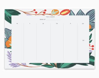 weekly desk pad calendar weekly calendar desk pad printable weekly calendar