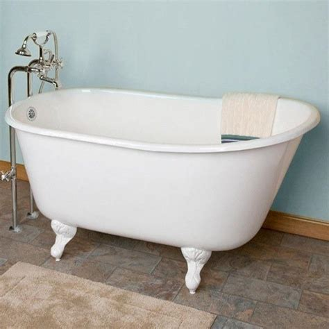 bathtub 54 x 30 cambridge plumbing cast iron clawfoot swedish slipper tub