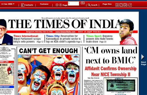 editorial section of times of india epaper times of india and deccan herald india