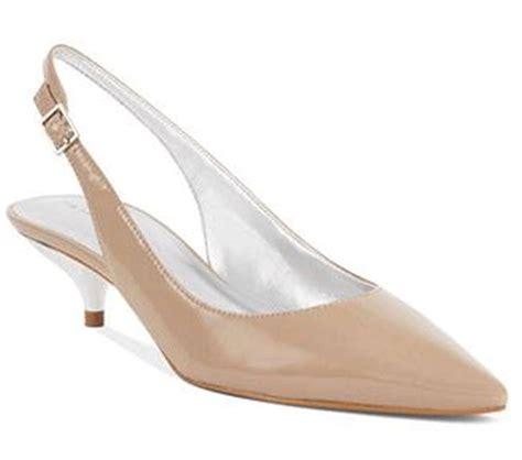 s shoes tahari slingback pumps kitten heels patent black or toast ebay