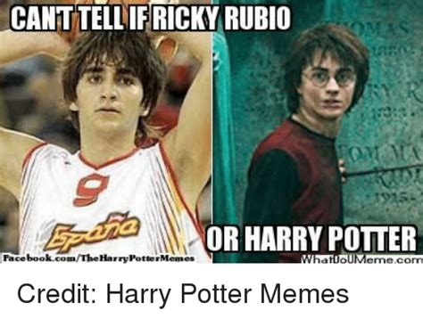 Memes De Harry Potter - canttellif ricky rubio omas or harry potter