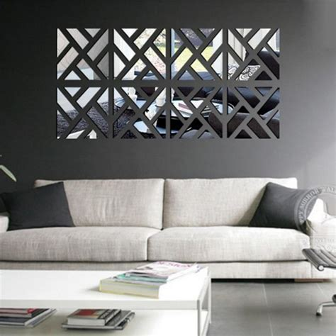mirror wall decoration ideas living room surface fashion mirror wall stickers living room