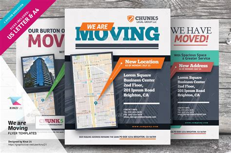 We Are Moving Flyer Templates By Kinzi21 Graphicriver Moving Company Flyer Template